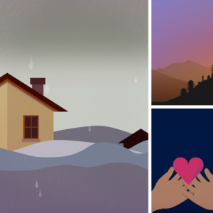 scenes from animated explainer video